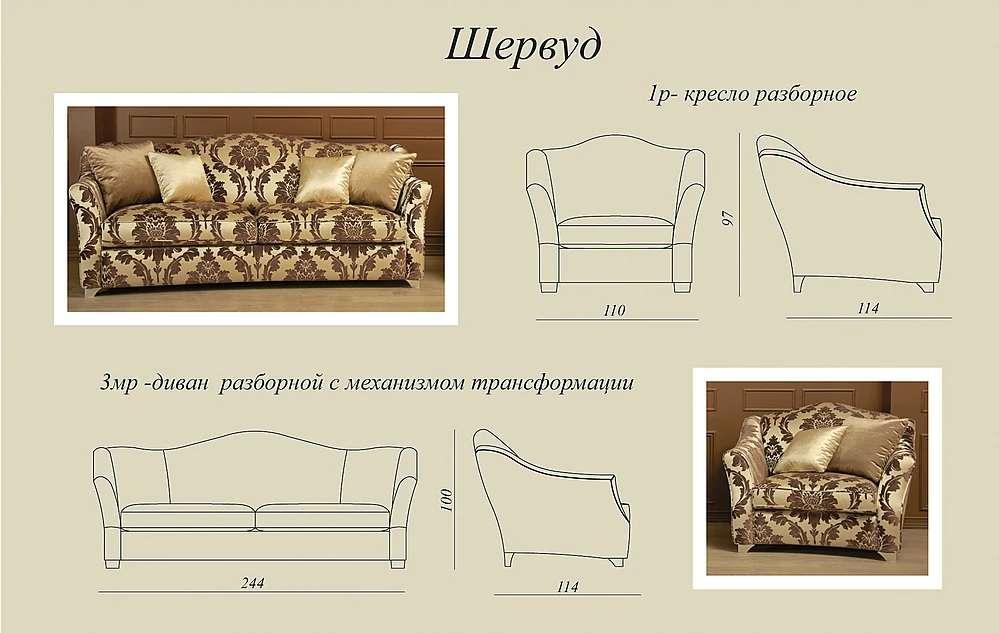Схемы и размеры дивана