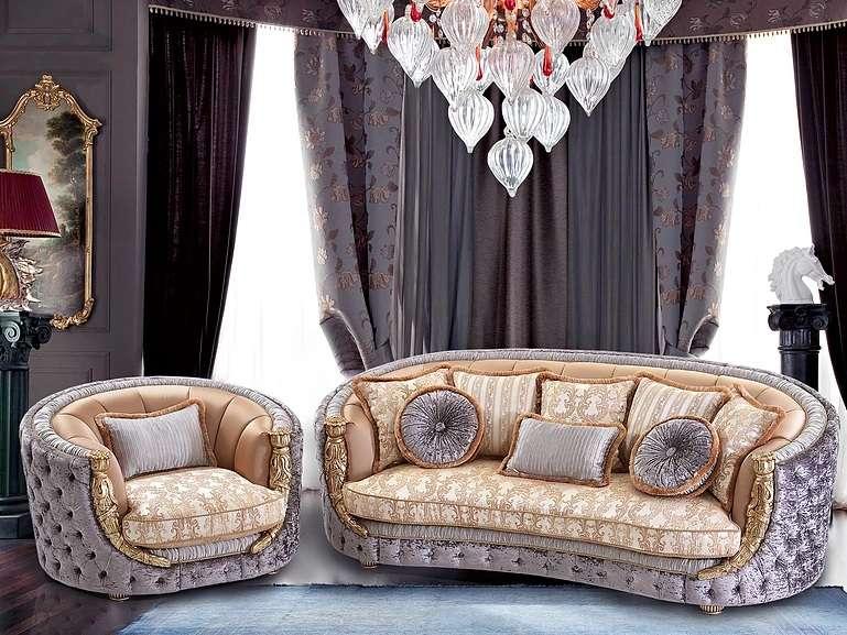 Классический мягкий мебельный гарнитур Аззаро.