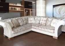 Большой белый угловой диван Анабель. Фабрика Гранд