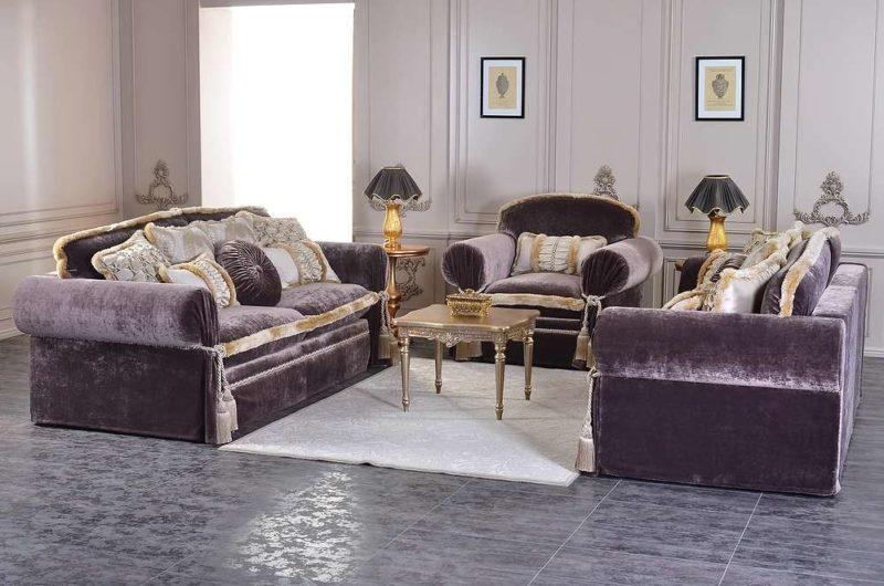 Богатый классический диван с креслами Неаполь
