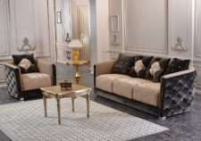 Классический комплект мягкой мебели в стиле капитоне Мартин. фабрика Гранд