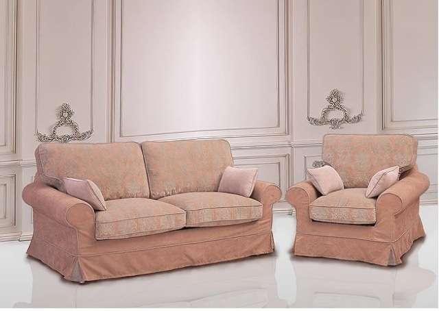 Розовый комплект мягкой мебели Босфор.
