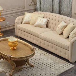 Мягкий классический диван Веста с отделкой капитоне.