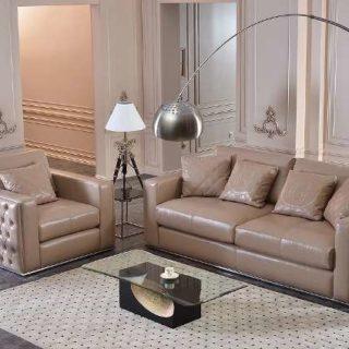 Дорогой кожаный диван Леонардо. Фабрика Гранд