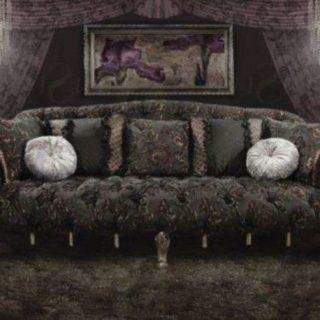 Черный диван в стиле Арт-Деко. Америка
