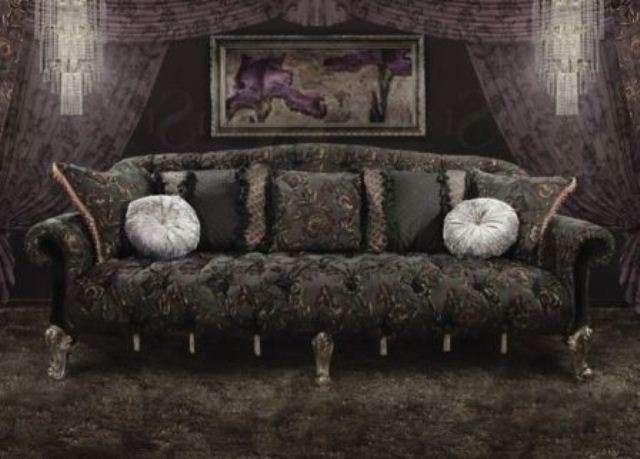 Черный диван в стиле Арт-Деко Черная Магия