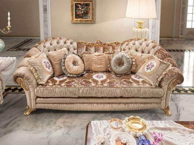 Классический итальянский диван Аида в стиле барокко