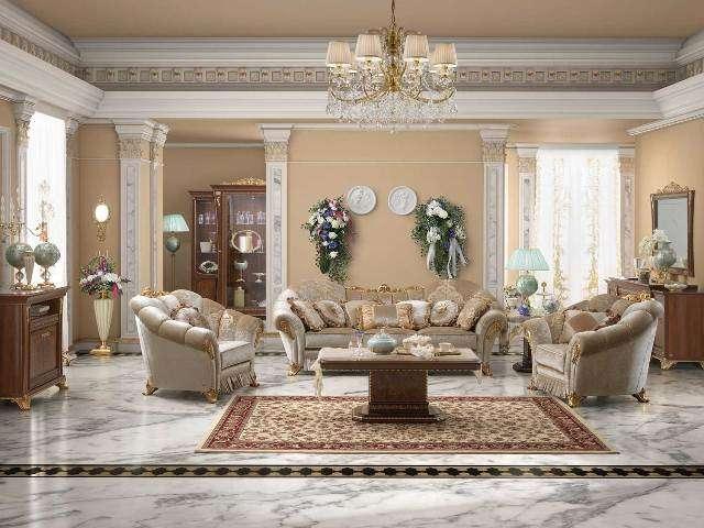Классический диван с креслами в стиле Барокко Аида.