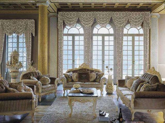 Итальянский комплект мягкой мебели в стиле барокко Опера.