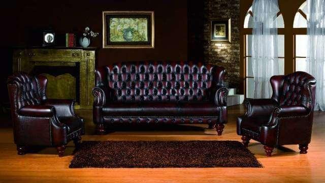 Классические кожаные диваны и мягкая мебель в коже: фото каталог www.divanos.com.ua