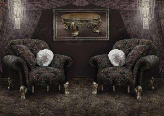 Черные кресла в стиле Арт деко Черная магия.