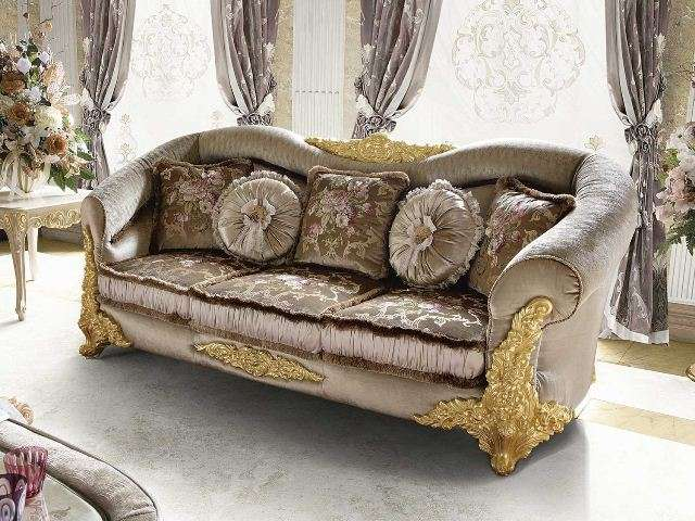 Итальянский диван в стиле барокко Амина