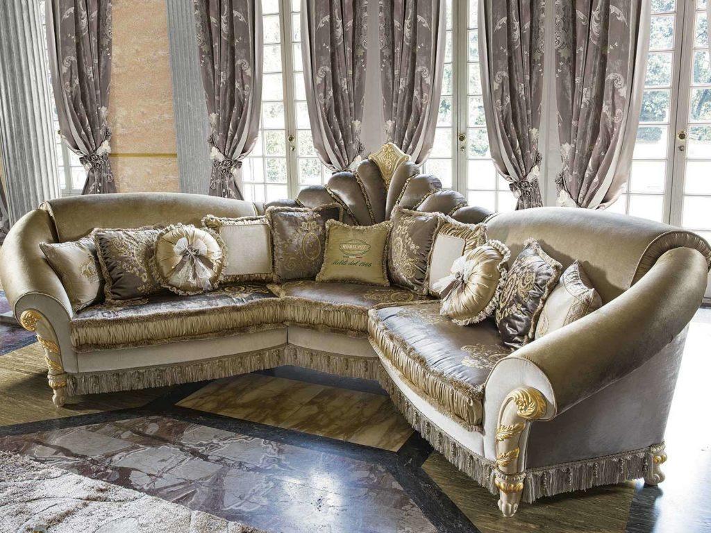 Королевский угловой диван Мадам Рояль