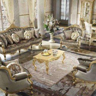 Дорогой классический комплект мягкой мебели Анастасия.