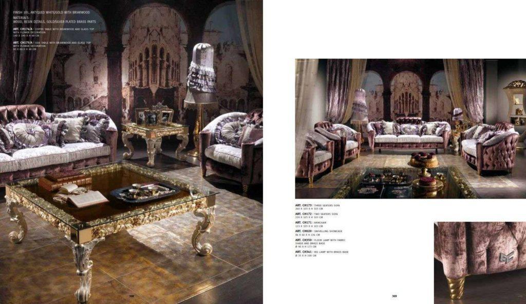 Классическая мягкая итальянская мебель