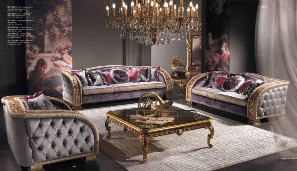 Дорогой комплект мягкой мебели Шарм от фабрики Капелетти