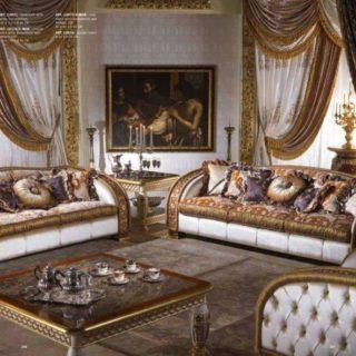 Элитный мягкий диван с золотом Шарм. Италия.