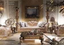Классический золотой императорский диван Каппелетти