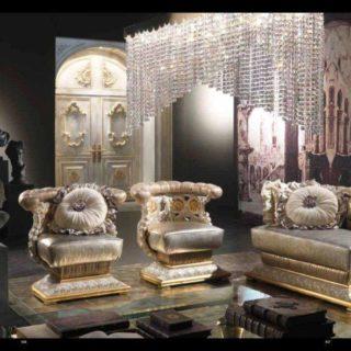 Дорогой элитный мягкий комплект мебели в гостиную