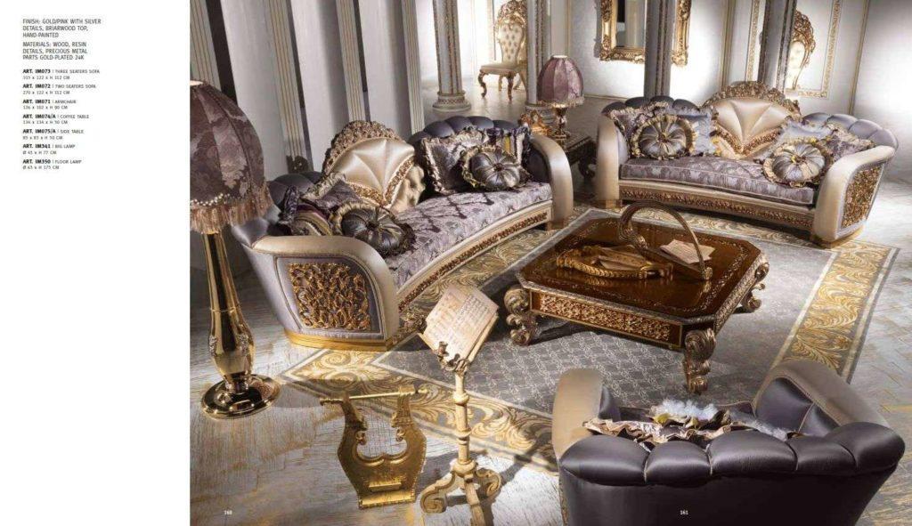 Мягкая королевская мебель в гостиную