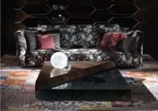 Черный диван RUBENS и стиле Арт-деко