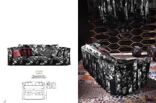 Стильный трехместный диван в стиле Арт-Деко