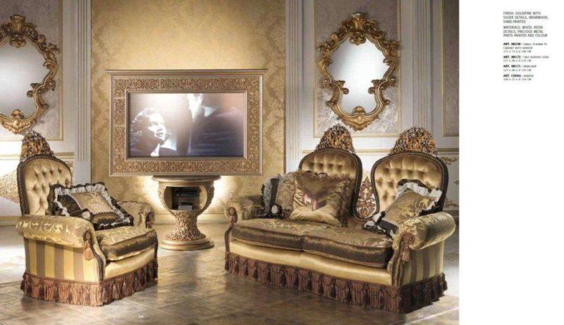 Дорогая дворцовая мягкая мебель