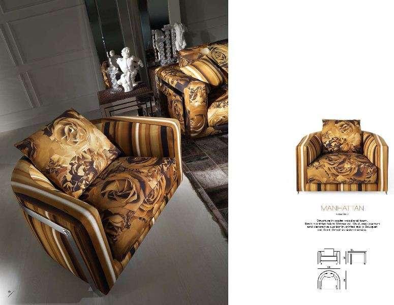 Стильное итальянское кресло Манхеттен. Роберто Кавалли