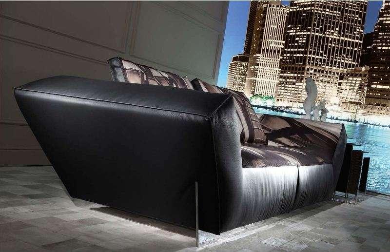 Кожаный диван в стиле Арт-Деко Атлант