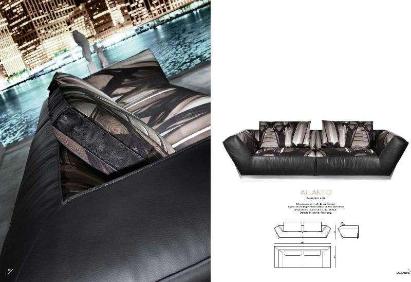 Дорогой кожаный итальянский диван