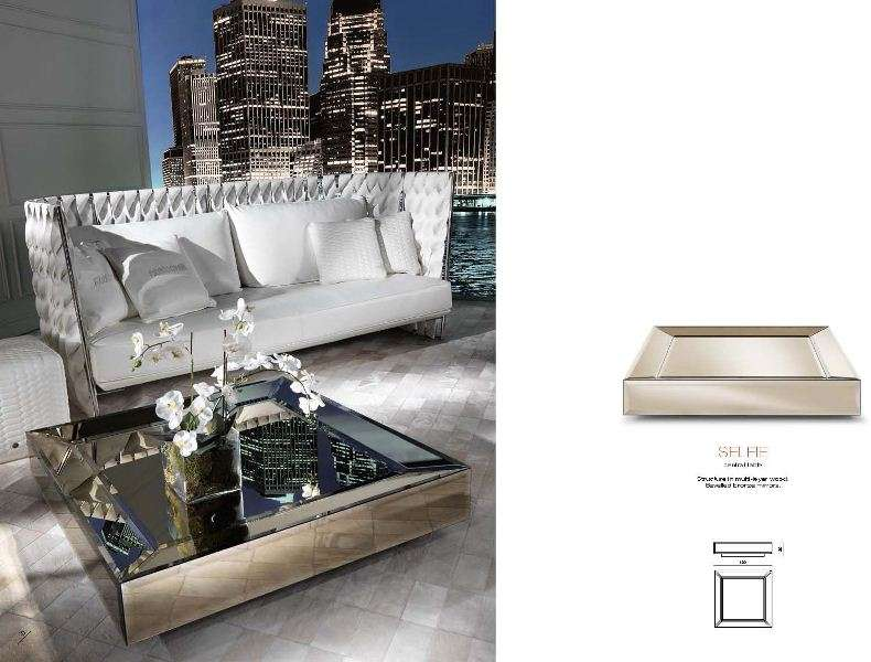 Белый кожаный диван Айвиш