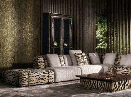 Красивый дорогой диван в стиле Арт-Деко HAMPTOS