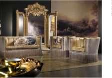 Дорогой королевский диван с креслами. Италия