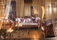 Дорогой классический диван Шарм в стиле барокко