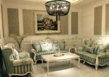 Белый дорогой набор мягкой мебели Натали, Румыния