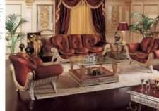 Классическая дорогая мягкая мебель Каппеллетти в терракотовых цветах.