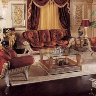 Классический терракотовый классический диван Симфония