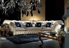 Большой элитный радиусный диван от фабрики Каппелетти