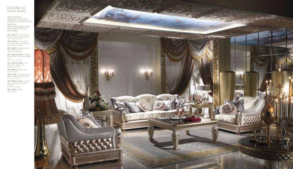 Белый элитный комплект мягкой мебели Каппелетти, Италия.