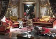 Элитный итальянский диван в бордовых тонах Каппеллетти