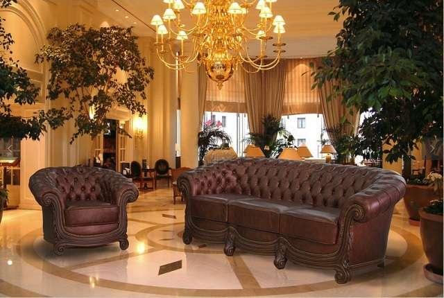 Кожаный диван в строгом классическом стиле Бирменгем, Гранд