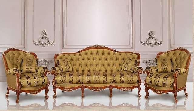 Резная мебель для гостиной в стиле барокко Балеро, Италия