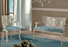Диван-кушетка со стульями в стиле барокко, Фиус