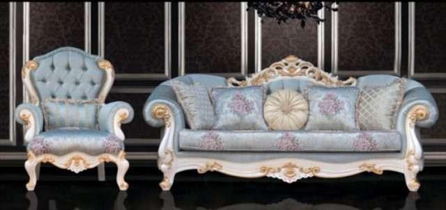 Резной мягкий диван Венеция, Турция из массива натурального дерева
