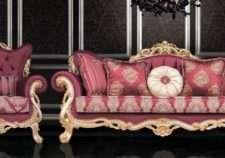 Красный диван Турин в стиле барокко, Турция