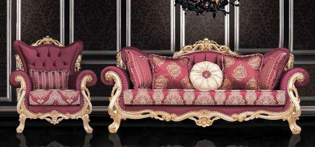 Красный диван в стиле барокко Турин, Турция