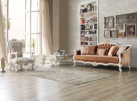 Классический теракотовый диван в гостиную