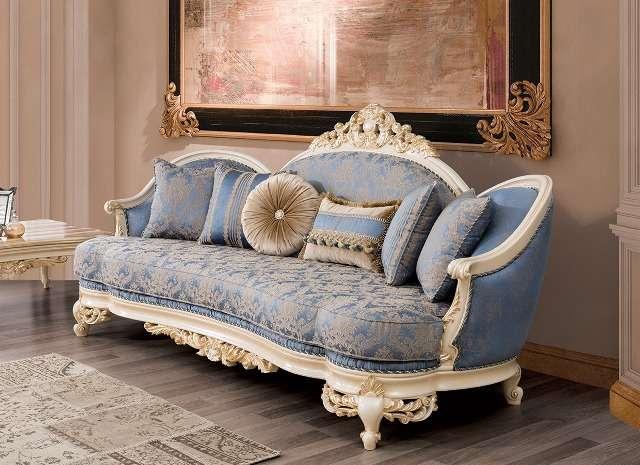 Радиусный диван Нева с декоративными подушками, Турция