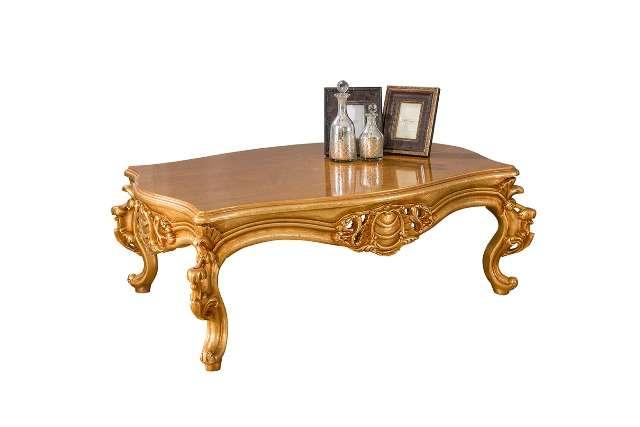 Прямоугольный золотой журнальный столик Рома, Турция