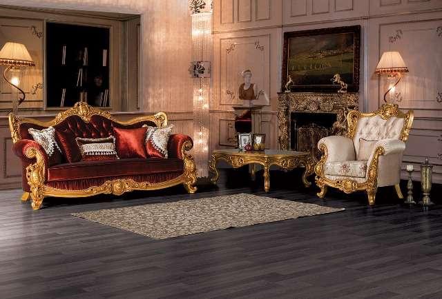 Золотой элитный диван Рома, Турция